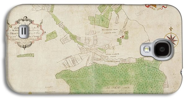 Coloured Map Of An Estate In Lower Lye Galaxy S4 Case by British Library