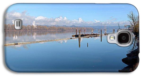 Columbia River Dredging Work Docks Galaxy S4 Case