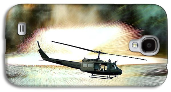 Helicopter Galaxy S4 Case - Combat Helicopter by Olivier Le Queinec