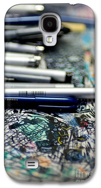 Comic Book Artists Workspace Study 1 Galaxy S4 Case by Amy Cicconi