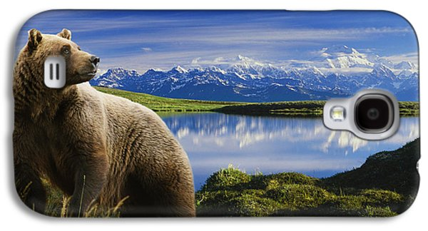 Composite Grizzly Stands In Front Of Galaxy S4 Case