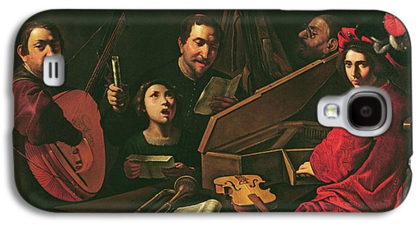 Concert With Musicians And Singers, C.1625 Oil On Canvas Galaxy S4 Case by Pietro Paolini