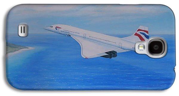 Concorde Over Barbados Galaxy S4 Case by Elaine Jones