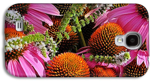 Cone Flowers And Mint Galaxy S4 Case