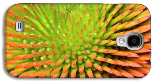 Coneflower Abstract Galaxy S4 Case by Nigel Downer