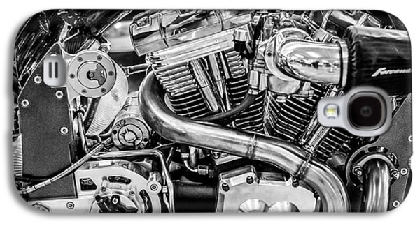 Confederate B120 Wraith Motorcycle - Square - Black And White Galaxy S4 Case by Ian Monk