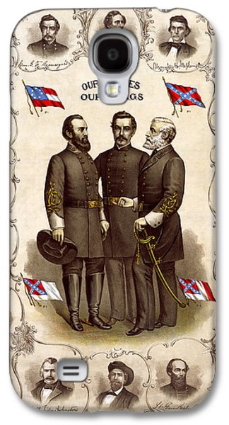 Confederate Generals And Flags Galaxy S4 Case