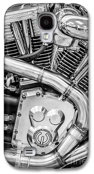 Confederate Motorcycle B120 Wraith Engine And Exhaust Pipe 2 - Black And White Galaxy S4 Case by Ian Monk