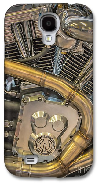 Confederate Motorcycle B120 Wraith Engine And Exhaust Pipe 2  Galaxy S4 Case by Ian Monk