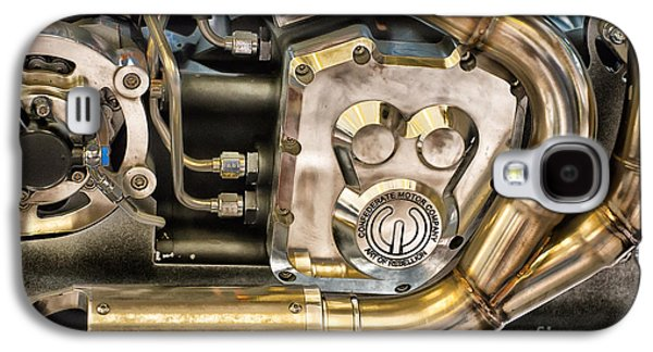 Confederate Motorcycle B120 Wraith Engine And Exhaust Pipe Galaxy S4 Case by Ian Monk