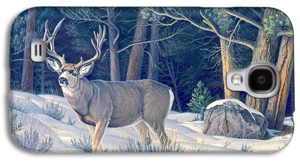 Confrontation - Mule Deer Buck Galaxy S4 Case by Paul Krapf