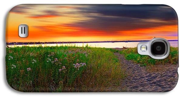 Conimicut Point Beach Rhode Island Galaxy S4 Case by Lourry Legarde