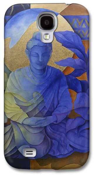 Contemplation - Buddha Meditates Galaxy S4 Case by Susanne Clark