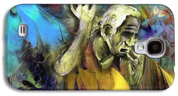 Contemplation Of Zeus Galaxy S4 Case by Miki De Goodaboom