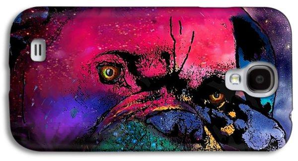 Contemplative Boxer Dog Galaxy S4 Case by Marlene Watson