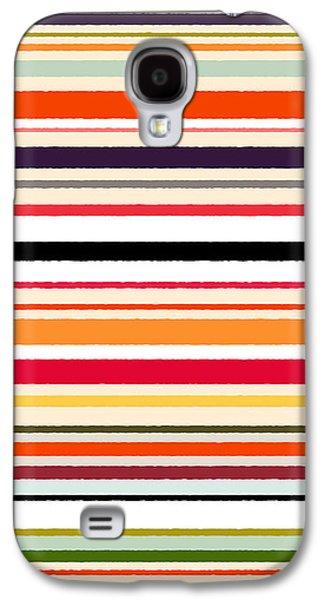 Contrast Stripe Pattern Galaxy S4 Case