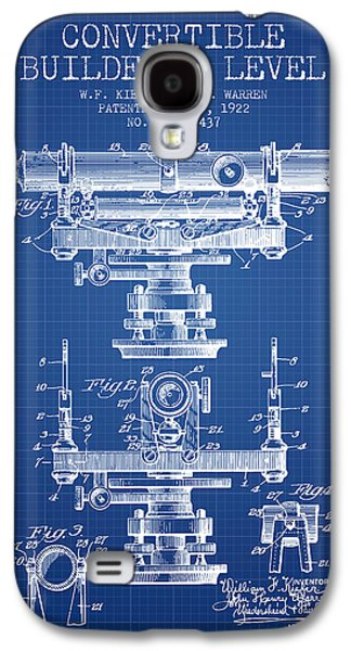 Convertible Builders Level Patent From 1922 -  Blueprint Galaxy S4 Case by Aged Pixel