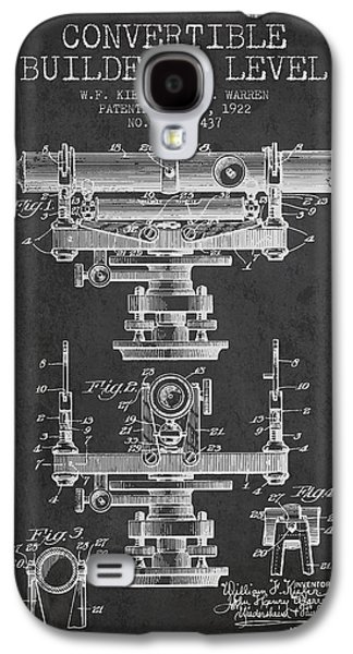 Convertible Builders Level Patent From 1922 -  Charcoal Galaxy S4 Case by Aged Pixel