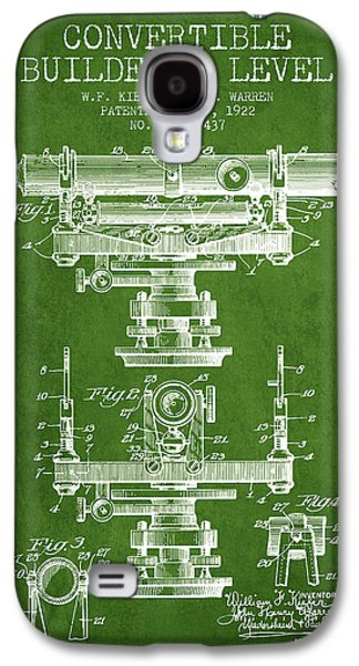 Convertible Builders Level Patent From 1922 -  Green Galaxy S4 Case by Aged Pixel