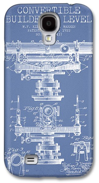 Convertible Builders Level Patent From 1922 -  Light Blue Galaxy S4 Case by Aged Pixel