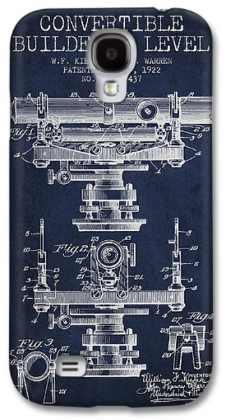 Convertible Builders Level Patent From 1922 -  Navy Blue Galaxy S4 Case by Aged Pixel
