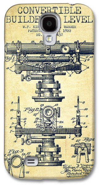 Convertible Builders Level Patent From 1922 -  Vintage Galaxy S4 Case by Aged Pixel
