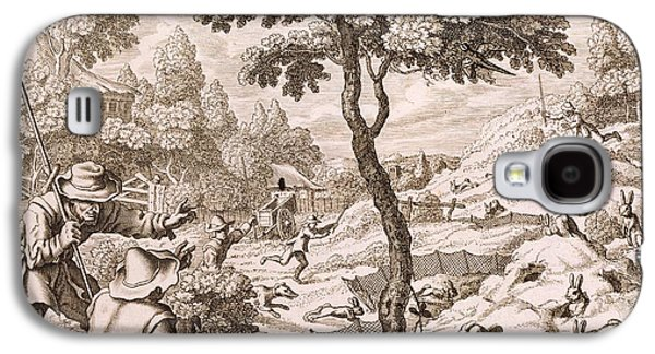 Cony Catching, Engraved By Wenceslaus Galaxy S4 Case by Francis Barlow