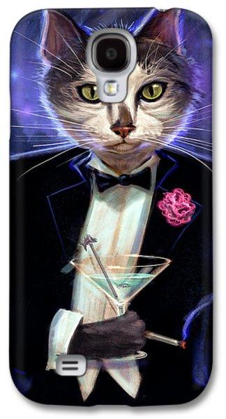 Cool Cat Galaxy S4 Case by Jeff Haynie