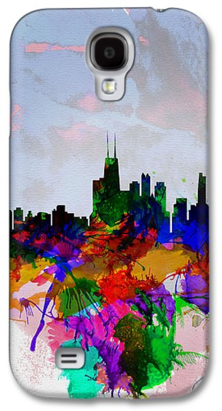 Copenhagen Watercolor Skyline Galaxy S4 Case by Naxart Studio