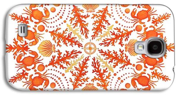 Coral Crab Mandala Galaxy S4 Case by Stephanie Troxell