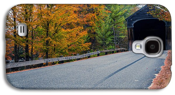 Corbin Covered Bridge New Hampshire Galaxy S4 Case by Edward Fielding