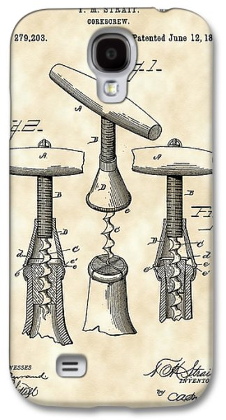 Corkscrew Patent 1883 - Parchment Galaxy S4 Case by Stephen Younts