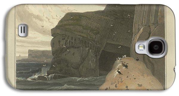 Cormorants Cave On The Cliffs Of Staffa Galaxy S4 Case