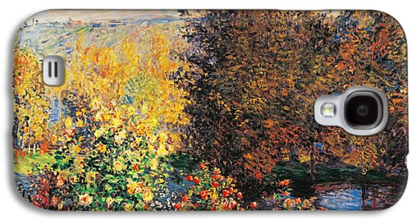 Corner Of Garden In Montgeron Galaxy S4 Case by Claude Monet