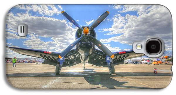 Corsair On The Flight Line At Reno Air Races Galaxy S4 Case