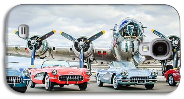 Corvettes With B17 Bomber Galaxy S4 Case