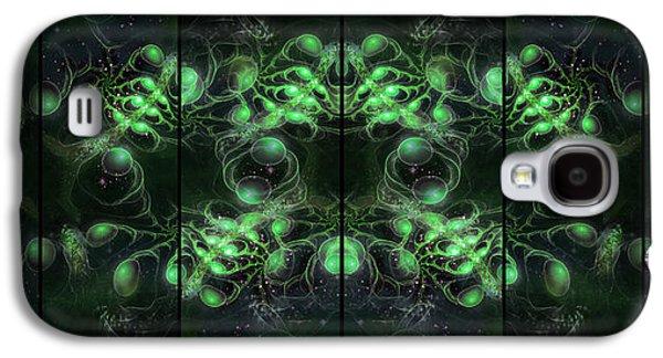 Cosmic Alien Eyes Green Galaxy S4 Case