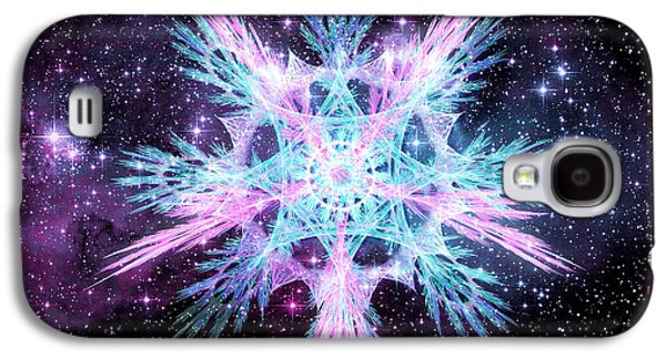 Cosmic Starflower Galaxy S4 Case