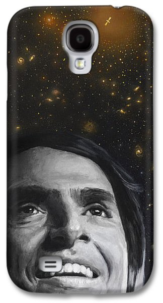 Cosmos- Carl Sagan Galaxy S4 Case by Simon Kregar