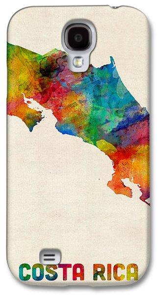 Costa Rica Watercolor Map Galaxy S4 Case by Michael Tompsett