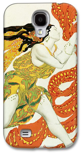 Costume Design For A Bacchante In Narcisse By Tcherepnin Galaxy S4 Case by Leon Bakst