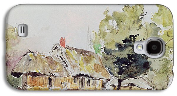 Cottage Under Large Trees In Summer Galaxy S4 Case