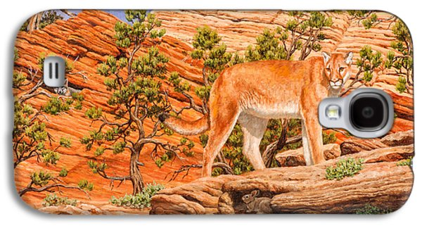 Cougar - Don't Move Galaxy S4 Case by Crista Forest