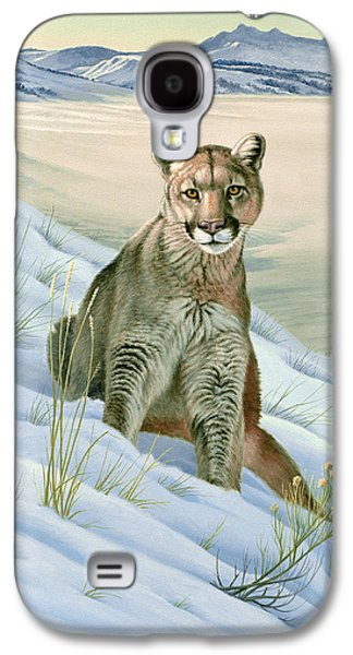 'cougar In Snow' Galaxy S4 Case by Paul Krapf