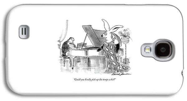 Could You Kindly Pick Up The Tempo A Bit? Galaxy S4 Case by Bernard Schoenbaum