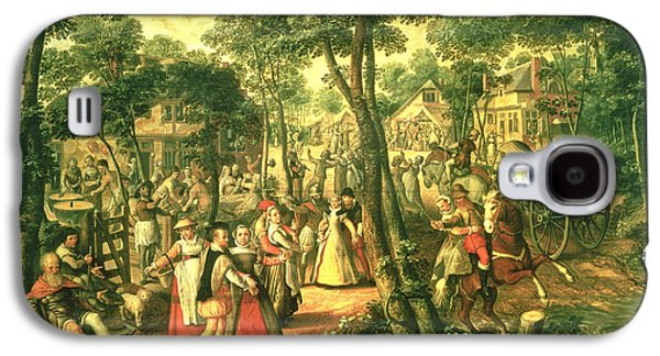 Country Celebration, 1563 Oil On Canvas Galaxy S4 Case by Joachim Beuckelaer or Bueckelaer