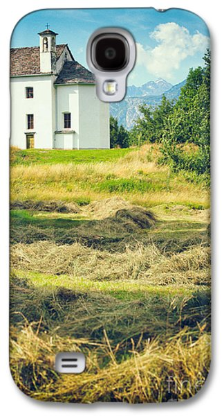 Galaxy S4 Case featuring the photograph Country Church With Hay by Silvia Ganora
