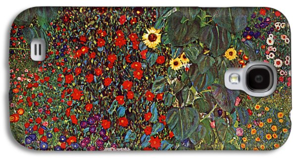 Country Garden With Sunflowers Galaxy S4 Case by Celestial Images