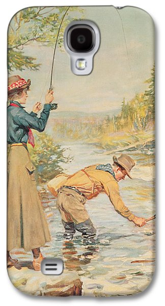 Couple Fishing On A River Galaxy S4 Case