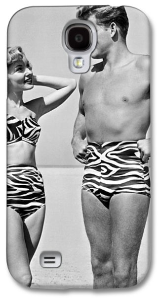 Couple In Matching Attire Galaxy S4 Case by Underwood Archives